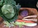 prepping veggies